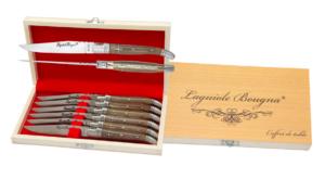 Coffret 6 couteaux de table Laguiole en Corne Blonde